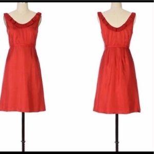 Moulinette Sœurs red silk dress